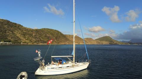 Bavaria 40 Ocean: Au mouilage
