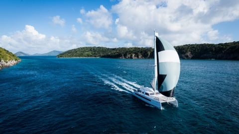 Catana 59 : En navigation sous spinnaker
