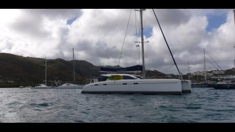 Nautitech 47: Au mouillage en Martinique