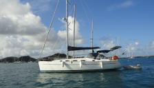 Cyclades 39.3: At anchorage in Martinique