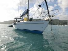 Sun Fizz : Au mouillage en Martinique