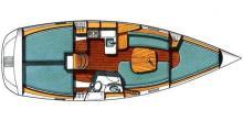 Oceanis 331 Clipper: Plan d'aménagement