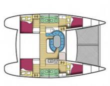 Lagoon 410 S2 : Plan aménagement