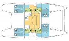 Catana 47: Plan d'aménagement