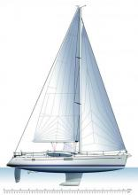 Sun Odyssey 50 DS : Plan de voilure