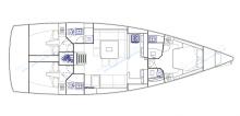Dufour 500 Grand'Large: Plan d'aménagement