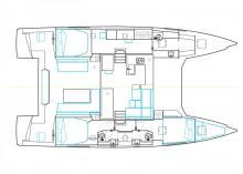 Nautitech 46 Open : Plan d'aménagement
