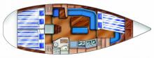 Dufour 36 Classic: Plan d'aménagement