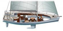 Dufour 45 E Performance : Plan d'aménagement