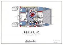 Belize 43 Maestro : Plan d'aménagement