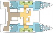 Nautitech 46 Open: Plan d'aménagement