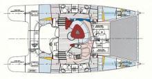 Fountaine Pajot Bahia 46: Plan d'aménagement