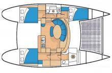 Lagoon 380 S2: Plan d'aménagement