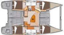 Lipari 41 Evolution: Plan d'aménagement