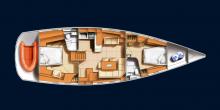 Hanse 531: Plan d'aménagement
