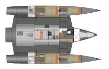 NEEL 47 : Plan des cabines