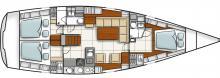 Hanse 470e : Plan d'aménagement