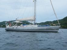 Au mouillage en Martinique - Leguen-Hemidy Lévrier des Mers 14 m, Occasion (1991) - Martinique (Ref 181)