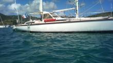 Au mouillage en Martinique - Amel Santorin Ketch, Occasion (1993) - Martinique (Ref 209)