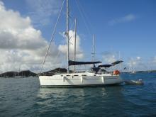 Cyclades 39.3: Au mouillage en Martinique