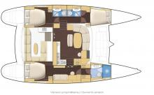 Lagoon 440 3 cabines: Plan d'aménagement