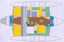 Cruising Trimaran : Plan d'aménagement