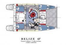 Fountaine Pajot Belize 43 : Plan d'aménagement