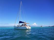 Dufour 380 Grand'Large: Au mouillage en Caraibes