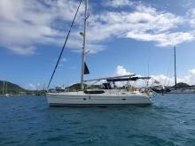 Hunter 45 CC: Au mouillage du Marin en Martinique