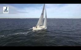 J112E Sports Cruiser Sailing off Newport, Rhode Island