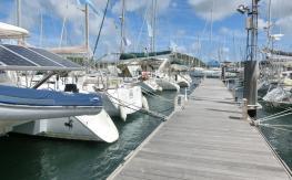Ponton n°2 port de plaisance du Marin